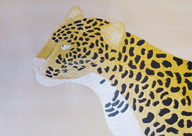 日本刺繍 パンサー