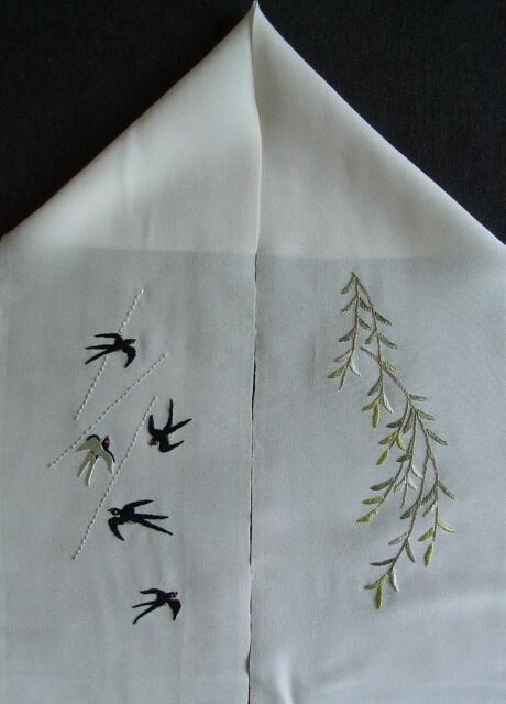 日本刺繍 半襟