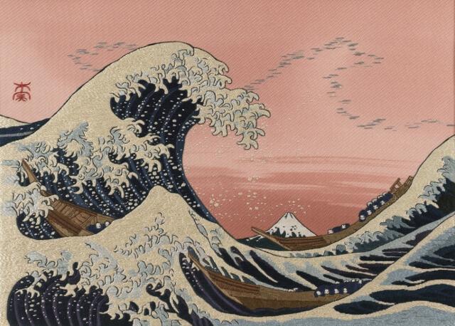 日本刺繍 北斎