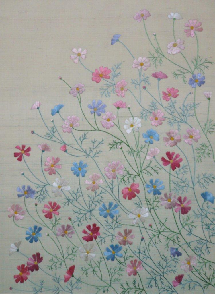 日本刺繍 コスモス