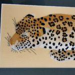 ヒョウ 刺繍