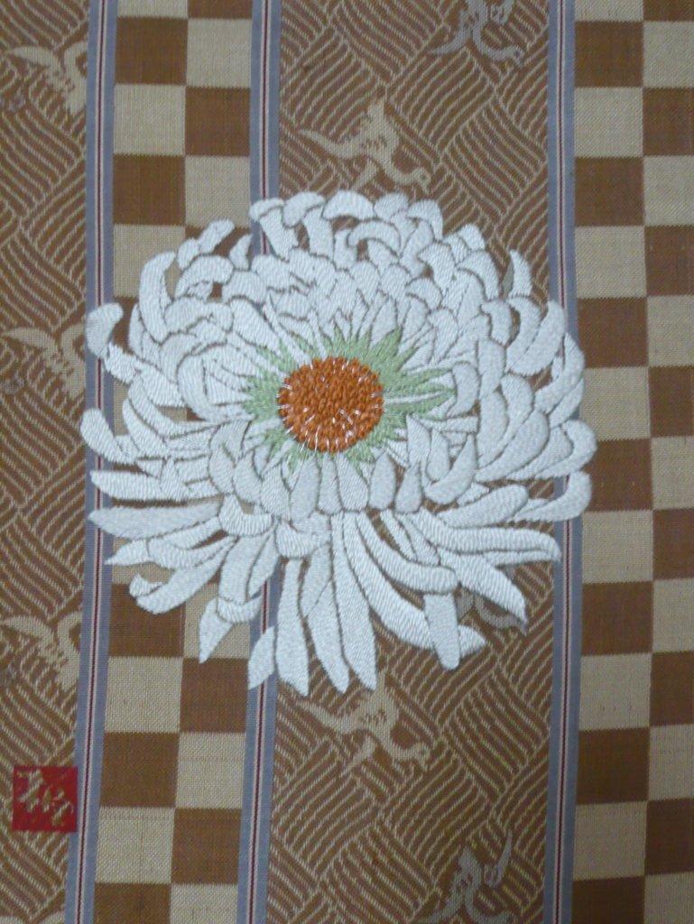 日本刺繍 菊
