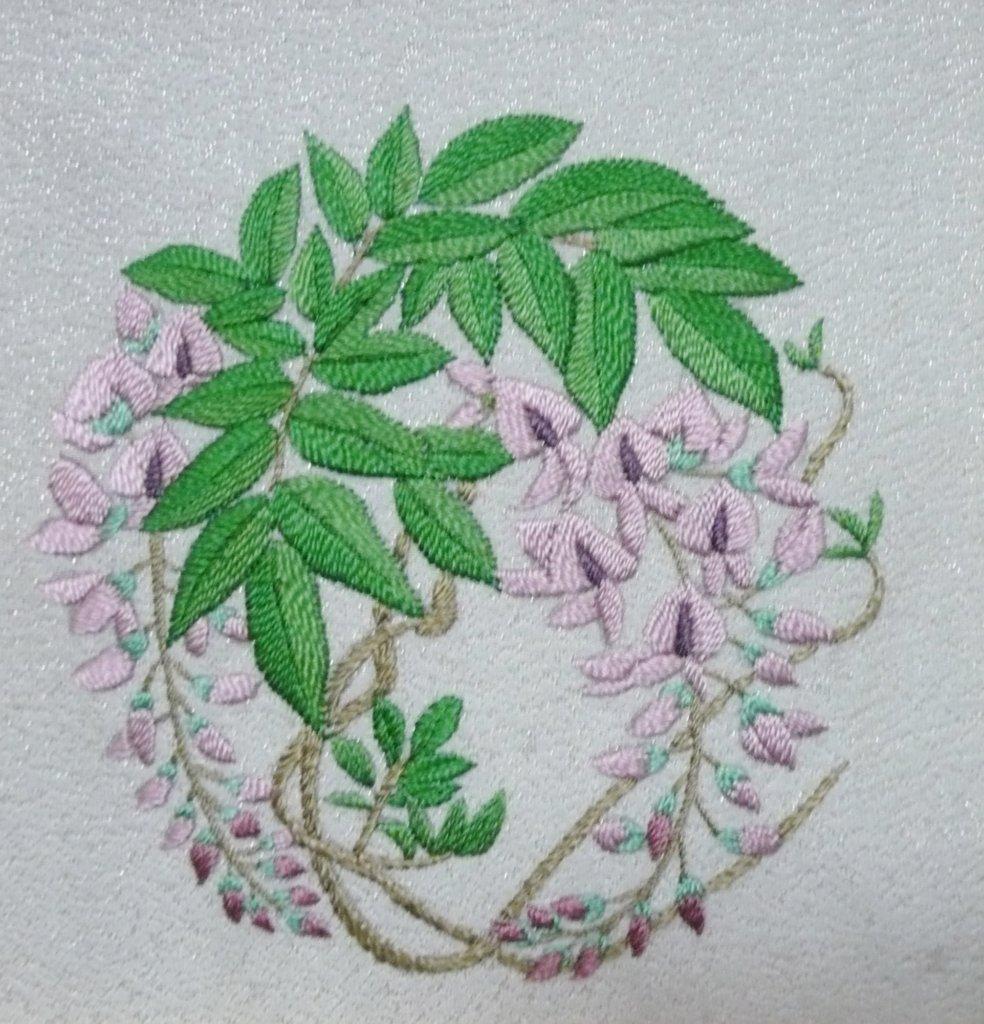 日本刺繍 藤