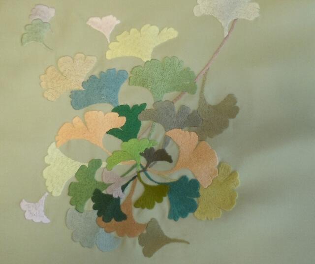 日本刺繍 銀杏