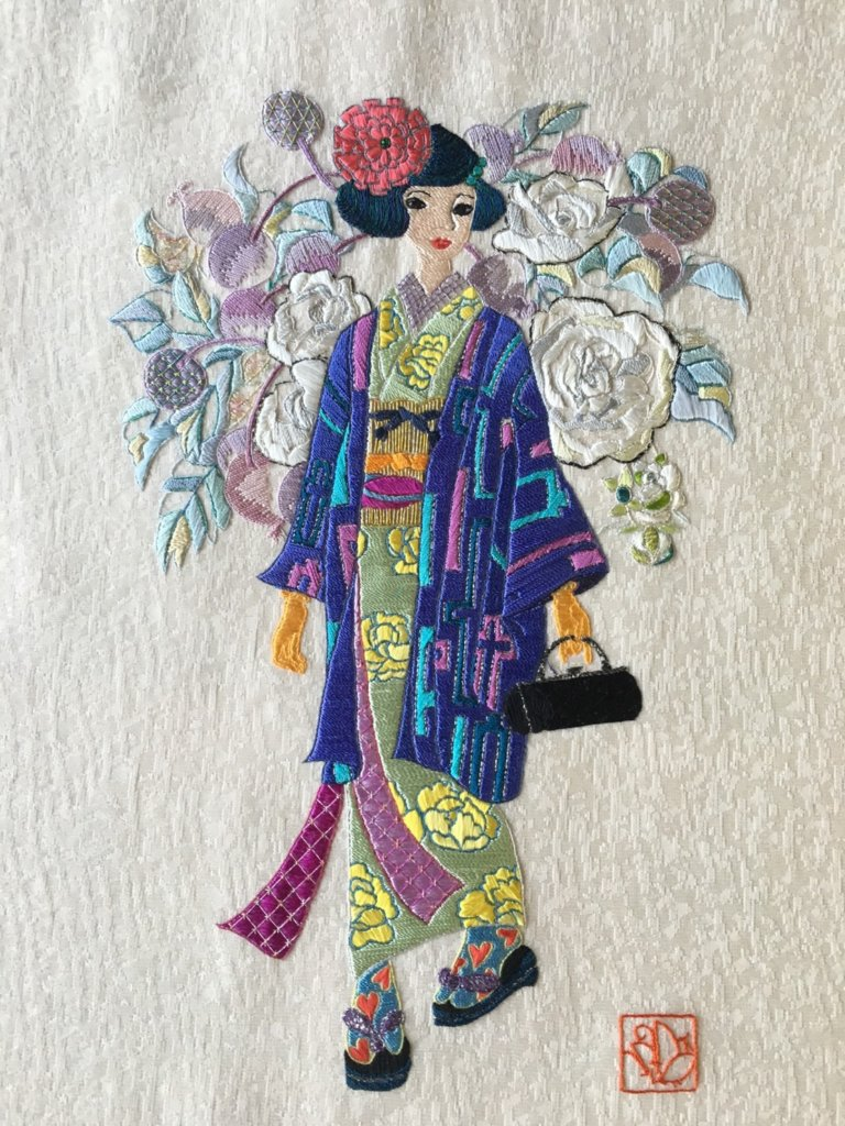 日本刺繍 生徒